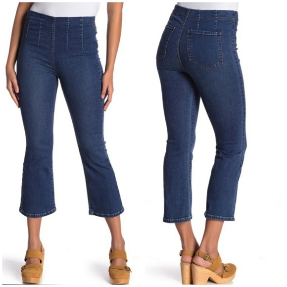 FREE PEOPLE Women/'s High Pull On Skinny Jeans 24 WAIST
